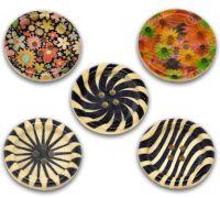Peinture sur bois boutons de couture 30mm X 10