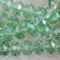 Perles 6 x 4mm, perles de Cristal  Peridot X 100