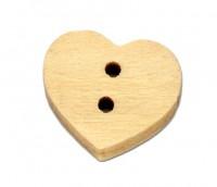 Boutons coeur en bois  13x11mm X 50