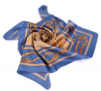 Foulard motif chaîne mousseline de soie 88x88cm  X 1