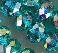 Perles cristal emerald AB  4x6mm x 100