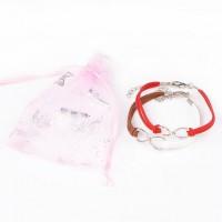 Bracelet Mixte tissé main Infinity  Emballe dans une pochette organza