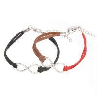 Mixte tissé main Infinity Bracelet black Red Coffee X 2