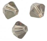 Toupies en crystal 4 mm Black diamond  X 100