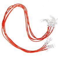 Colliers Rouge Cordon coton Ciré 45cm  X 1