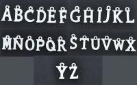 Mixte Pendentifs Argenté Lettre
