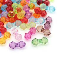 Mixte Perles  Acrylique  15x7mm  X 20