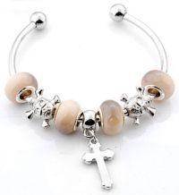 Bracelet perles lampwok 14 x 8 et trou 4.5 mm 20 cm