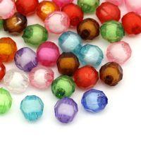 Mixte Perles  Acrylique rondes a Facette 8mm  X 20