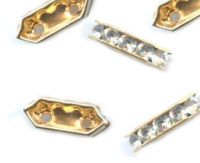 Barrette  strass 2 Trous 10x5 mm