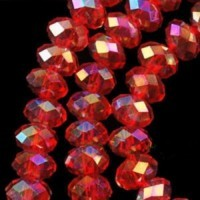 Perles rouges  4x6mm 