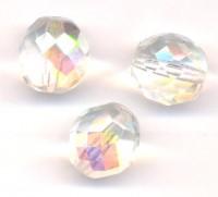 Facettes de boheme 12 mm Crystal AB X 5