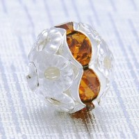 Boules rondes strass topaz 8 mm