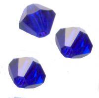 Toupies en crystal 4 mm Cobalt AB X 100