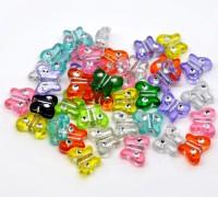Mixte Perles  Acrylique Papillon  11x9mm X 50
