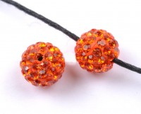 Boules rondes strass disco sun  10 mm X 10