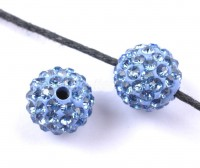 Boules rondes strass light sapphire disco 