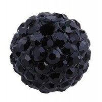 Boules rondes strass noir disco  10 mm X 4