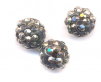Boules rondes strass disco bright black  10 mm X 10