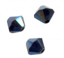 TOUPIES SWAROVSKI® ELEMENTS 4 mm  CRYSTAL METALLIC BLUE 2X/ 50 perles