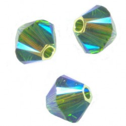 TOUPIES SWAROVSKI® ELEMENTS 4 mm  FERN GREEN AB2X / 50 perles