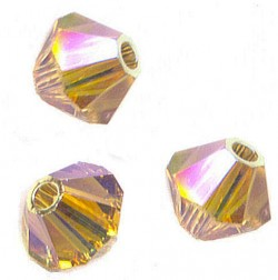 TOUPIES SWAROVSKI® ELEMENTS 4 mm LIGHT COLORADO TOPAZ AB2X/ 50
