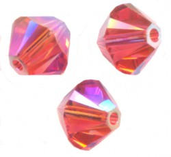 TOUPIES SWAROVSKI® ELEMENTS 4 mm PADPARADSCHA AB2X/ 50 perles