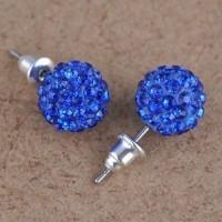 Boucles d'oreilles disco strass 10 mm Sapphire