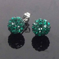 Boucles d'oreilles disco strass
