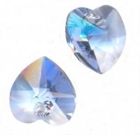 Coeur en crystal 14 mm Light sapphire X 6