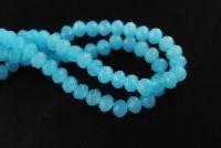 Perles crystal 2 x 3 blue opal X 100