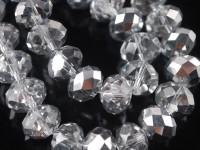 Perles crystal 2 x 3 mm crystal comet argent lt X 200