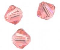Toupies en crystal 4 mm Rose peach AB X 100