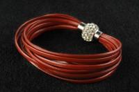Bracelet gainé de cuir   fermoir magnétique  X 1
