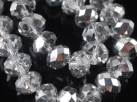 Perles crystal 3 x 4 mm Crystal comet argent lt X 200
