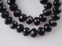 Perles cristal JET  3 x 4 mm X 200