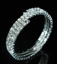 Bracelet elastique 3 rangs diametre 5 cm