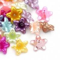 Perles  Acrylique  Fleur ......Taille du trou 1.4 mm  13x13mm X 20