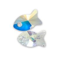 SWAROVSKI® ELEMENTS 6727.... poisson crystal AB 18 mm X 1