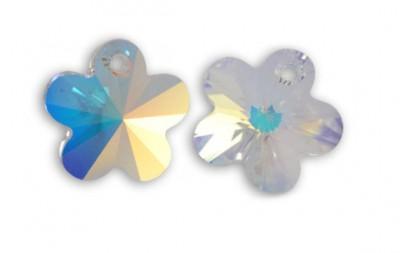 SWAROVSKI® ELEMENTS 6744....Fleur crystal AB - Flower Pendant 12 mm diametre du trou = 1.1 mm X 1