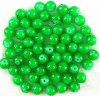 Perles 4 mm rondes en verre tchèque  Vert Diametre du trou 1 mm X 100