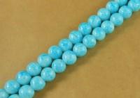 Perles 4 mm rondes en verre tchèque  Blue Diametre du trou 1 mm X 100