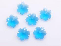 Pendant crystal bleu 14 mm x 10