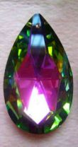 Pendant 38 x 23 mm  crystal vitrail X 1