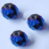 Rondelles briolettes 8 mm Sapphire X 32
