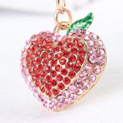 Coeur (anneau + pince accroche sac , ceinture) 3.8 x 3 cm