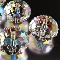 Perles cristal blanches 3 x 4 mm X 100