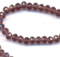 Perles cristal morion   6x4mm 100pcs