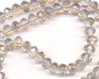 Perles  cristal 8x6mm Light gris X 70