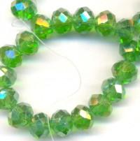 Perles  cristal 8x6mm Green X 70